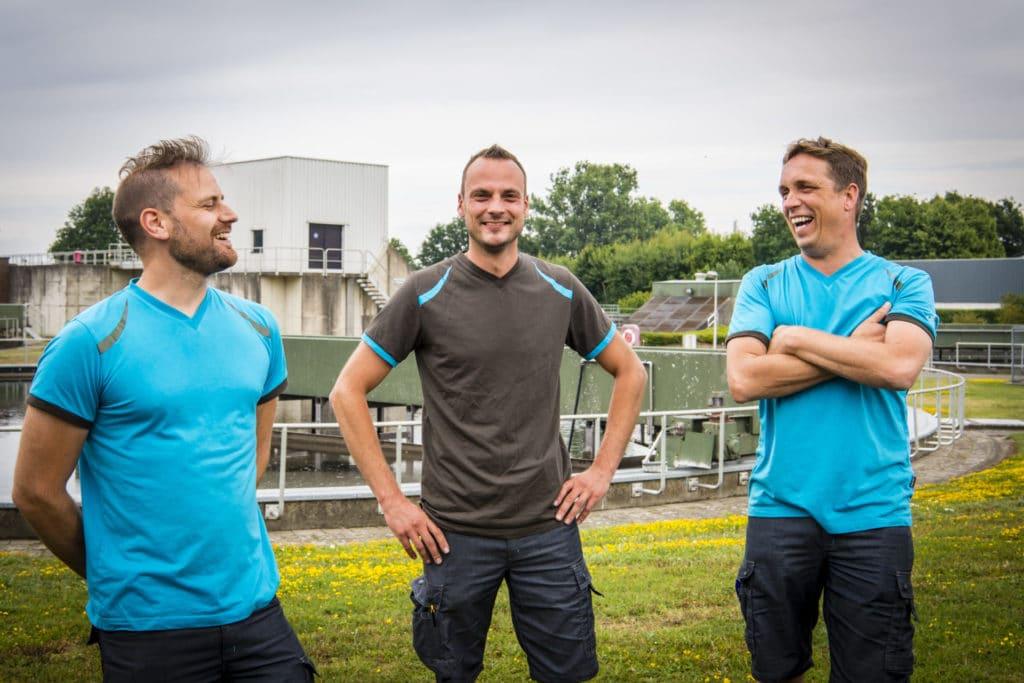 Nieuwe medewerkers bij Aquafin krijgen de kans om de dagelijkse realiteit van waterzuivering en afvalwatertransport aan den lijve te ondervinden.