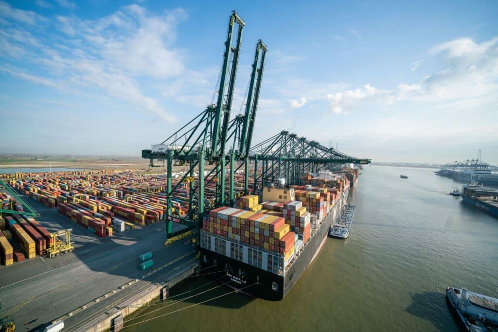 De terminal van PSA Antwerp is de grootste van de haven - Copyright: Jasper Leonard